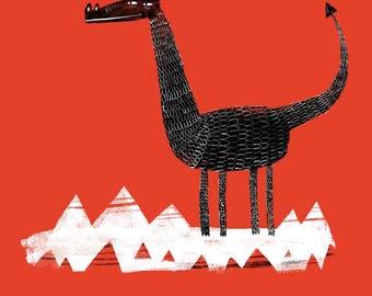 Dragon Giant - Illustration - A4 Giclee Print
