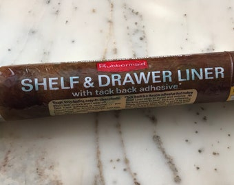1978 DEADSTOCK Rubbermaid Shelf and Drawer Liner - white with green flowers