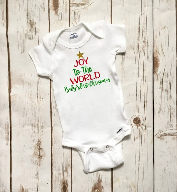 My First Christmas onepiece My First Christmas one-piece My First Christmas baby clothes My first Christmas Baby Bodysuit #68