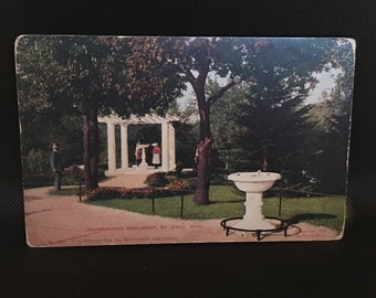 Vintage St. Paul Minnesota postcard of Mannheimer Monument, copywright 1905.  good condition.  3x5 inches.
