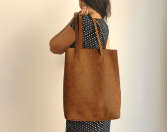 Vegan leather shoulder bag - back to school - Vegan handbag - Water  Resistant - Vegan Leather - Rustic Leather - Distressed Leather de6ec2c6f