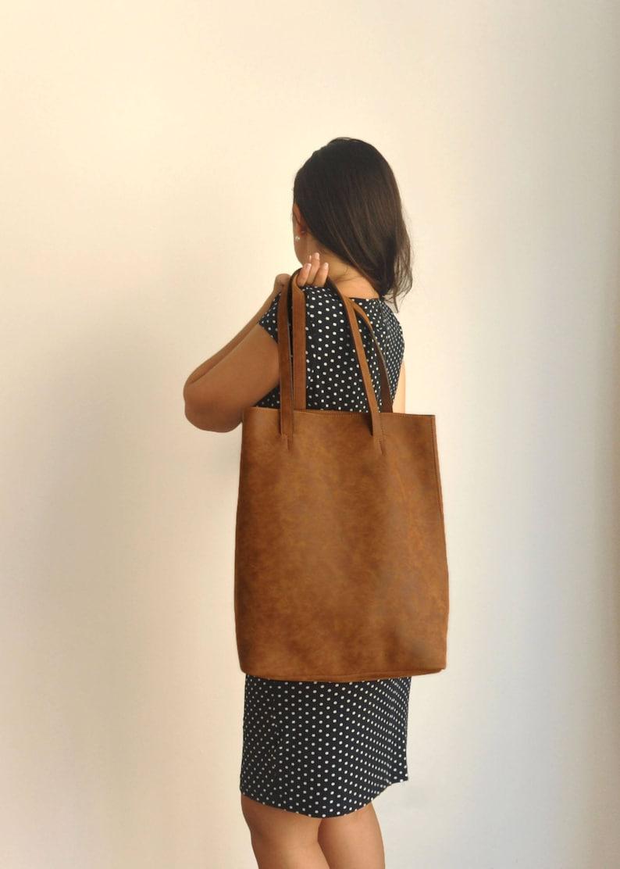Vegan leather shoulder bag  back to school  Vegan handbag  image 0