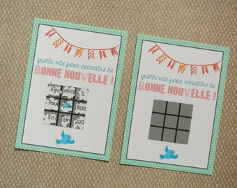 Message redial pregnancy announcement card