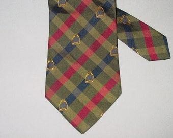 Horse Head with Ribbon Arthur Dixon Men/'s Woven Green Silk Necktie Horse Men/'s Tie Equestrian Tie Brand New Horse Fashion