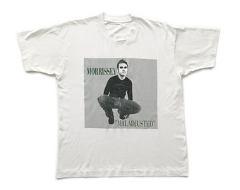 1997 Morrissey 'Maladjusted' vintage band T-shirt - Large Morrissey The Smiths Johnny Marr Rough Trade