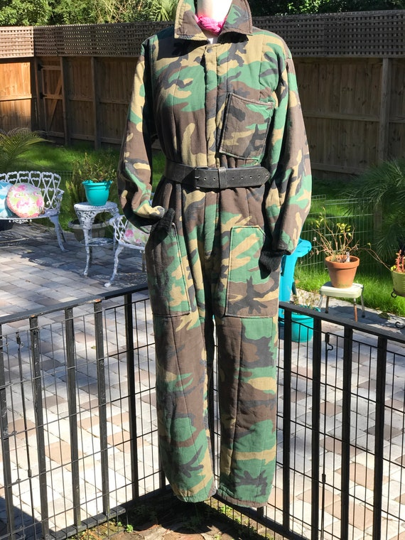 CAMOUFLAGE COVERALLS/camouflage coveralls/lined co