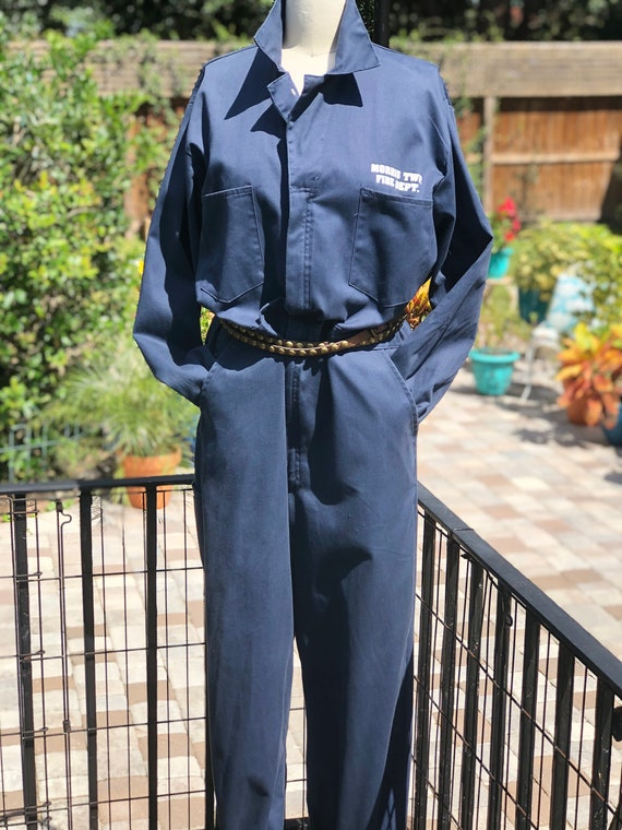 FREE US SHIPPING/coveralls/vintage coveralls/fire