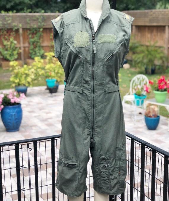 FREE US SHIPPING/flight suit/vintage flight suit/a