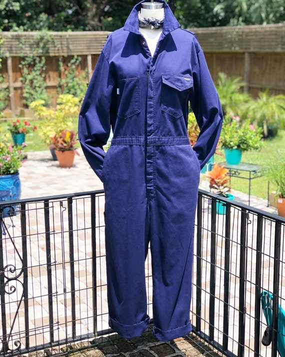 FREE US SHIPPING/coveralls/vintage coveralls/blue