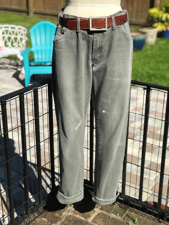 FREE US SHIPPING/Canvas work pants/vintage workwea