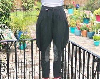 VINTAGE JODHPURS LADIES/black stretch jodhpurs/vintage cotton lycra jodhpurs/classic equestrian pants/show jodhpurs/fab208nyc/fab208nyc