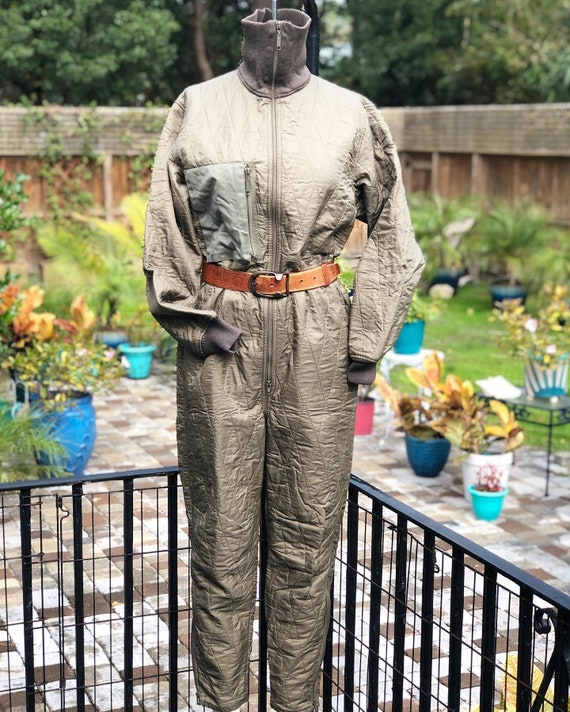 VINTAGE ARMY COVERALLS/Quilted coveralls/vintage q