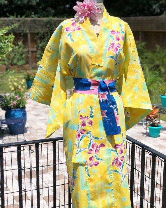 FREE US SHIPPING/japanese kimono/yukata kimono/cot