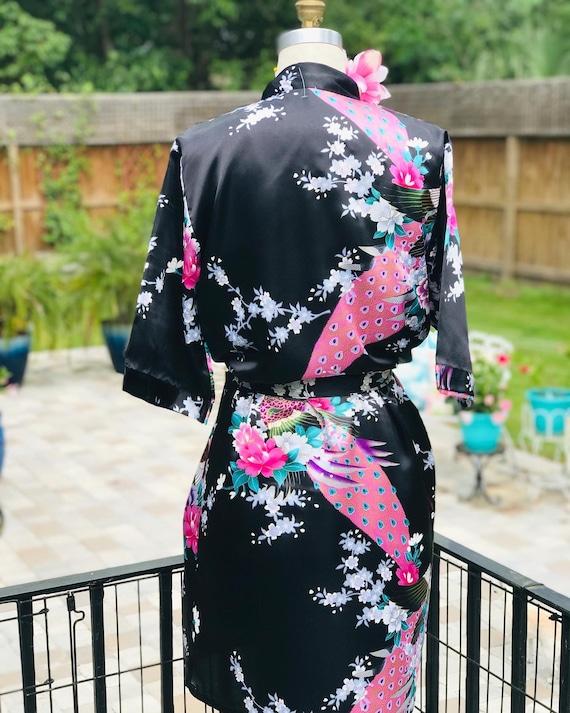 FREE US SHIPPING/satin kimono/black satin kimono/… - image 7