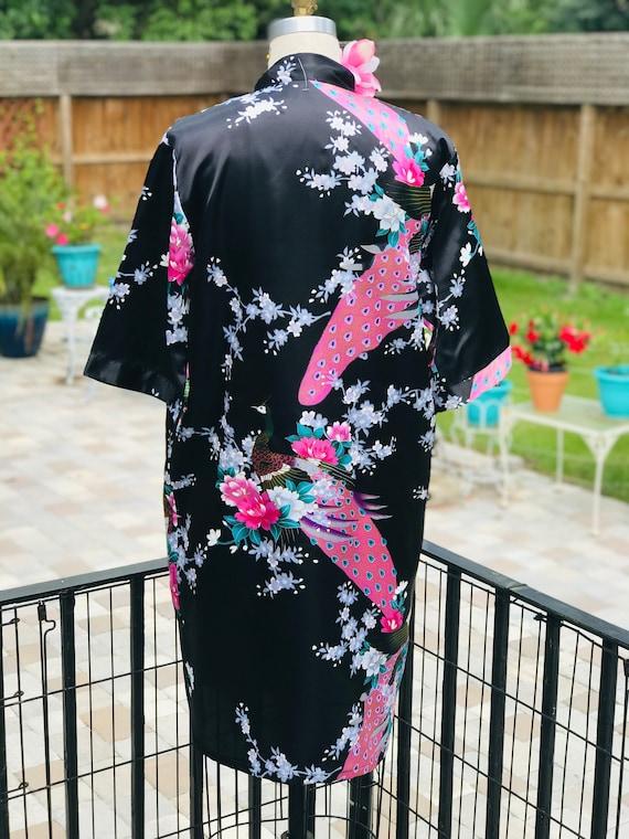 FREE US SHIPPING/satin kimono/black satin kimono/… - image 3
