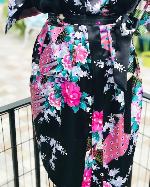 FREE US SHIPPING/satin kimono/black satin kimono/… - image 4