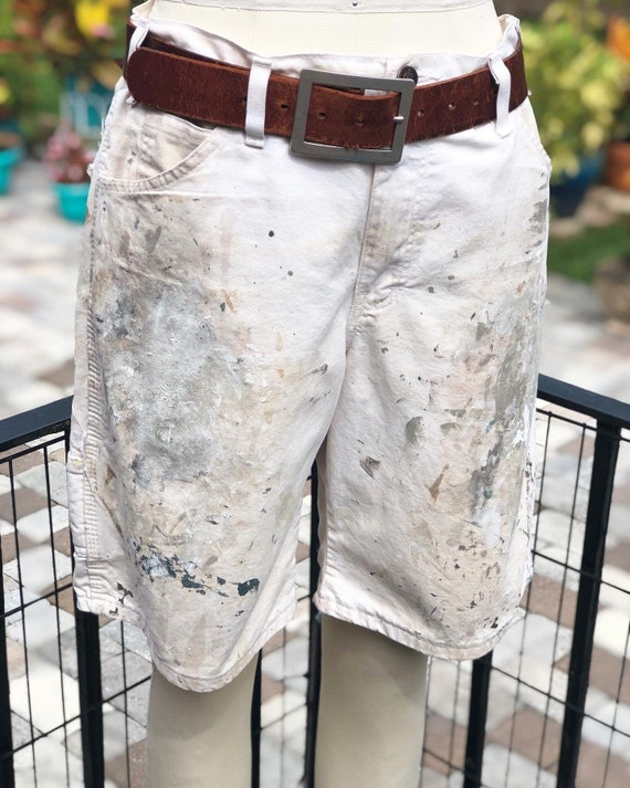 FREE US SHIPPING/painters shorts/paint covered sho