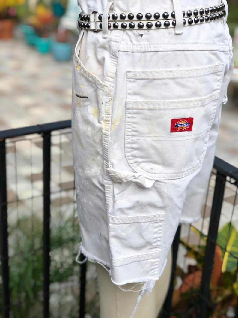 PAINTER SHORTS painted shortsdickies painter shortsboho white shortswhite painter pant shortsfab208nycfab208shorts with paint marks