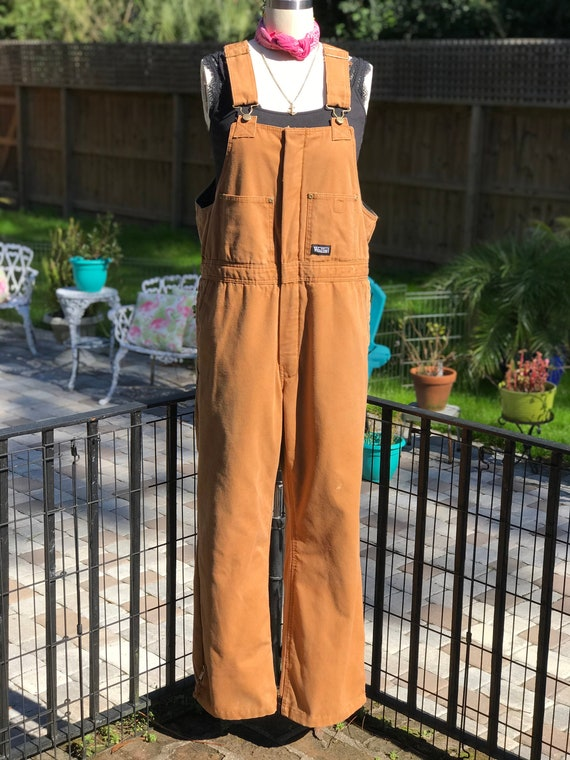 VINTAGE OVERALLS/ Lined overalls/canvas overalls/c