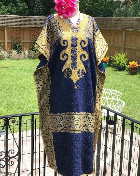 FREE US SHIPPING/embroidered kaftan/luxe kaftan/na