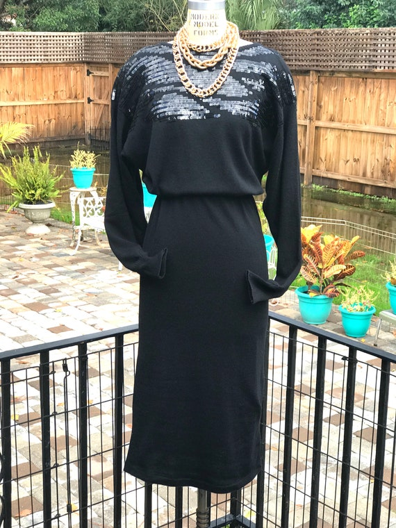 FREE US SHIPPING!/sweater dress/vintage sweater d… - image 6