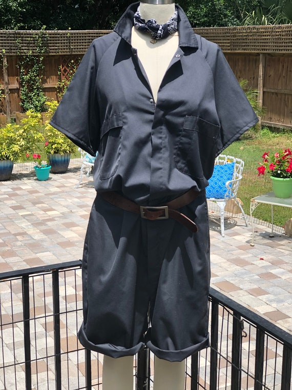 FREE US SHIPPING/coverall shorts/vintage coveralls