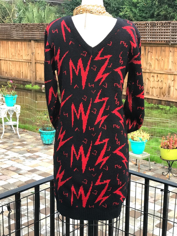 FREE US SHIPPING!/sweater dress/vintage sweater d… - image 4
