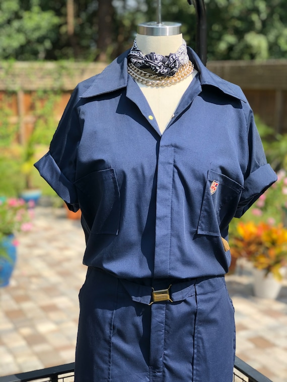FREE US SHIPPING/coveralls/vintage coveralls/short