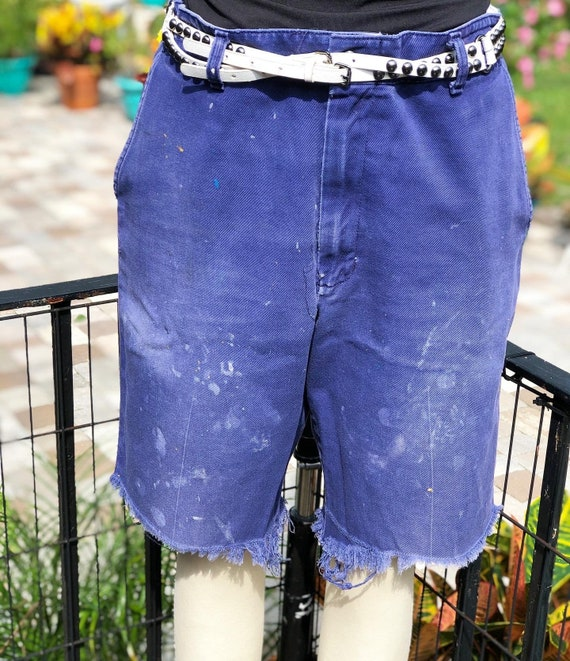 FREE US SHIPPING/faded work pants/workwear shorts/