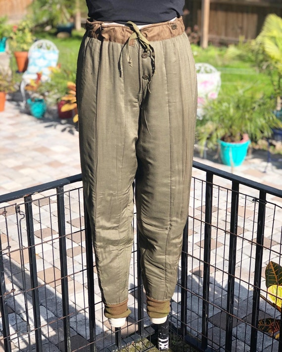VINTAGE ARMY PANT cotton quilted pants/Hungarian q