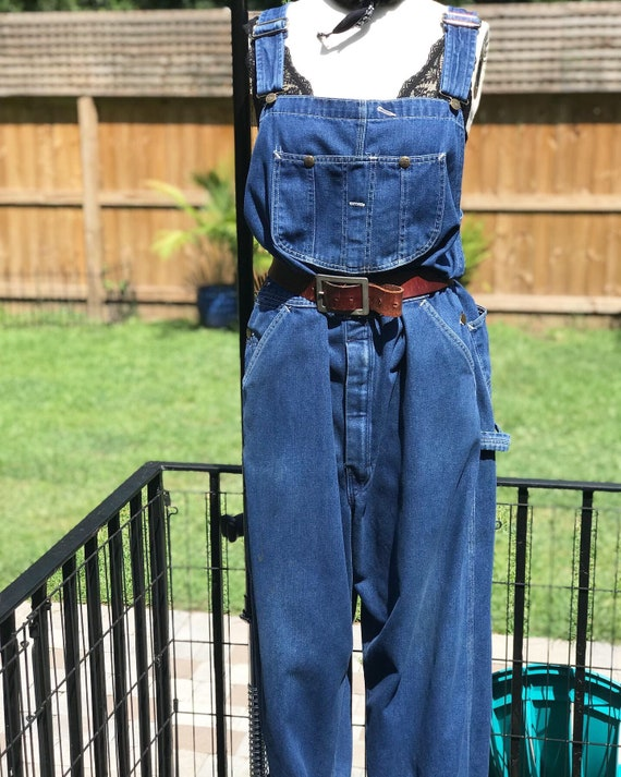 FREE US SHIPPING/xl overalls/ denim overalls/vinta