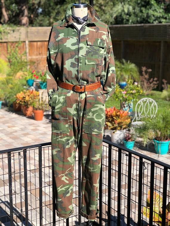 CAMO COVERALLS/coveralls/camouflage coveralls/vint