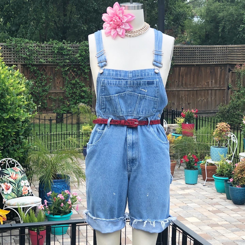 Vintage Overalls & Jumpsuits Vintage Overall ShortsLadies Overall ShortsFaded Denim OverallsBoho Short90S ShortFab208NycFab208Grunge Short $35.00 AT vintagedancer.com