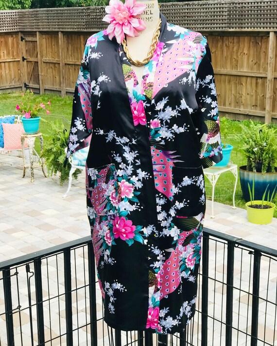 FREE US SHIPPING/satin kimono/black satin kimono/… - image 8