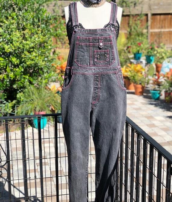 VINTAGE OVERALLS/90s overalls/grey overalls/stonew
