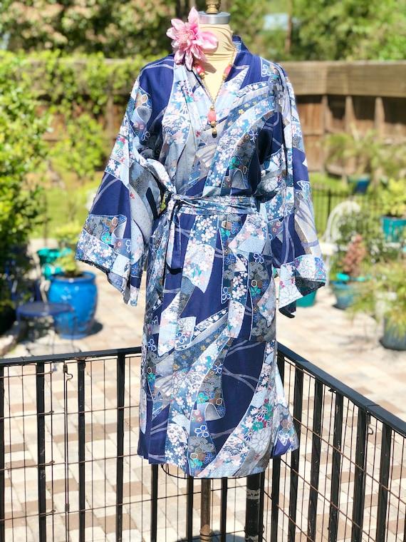 VINTAGE KIMONO ROBE/cotton kimono/vintage Japanese