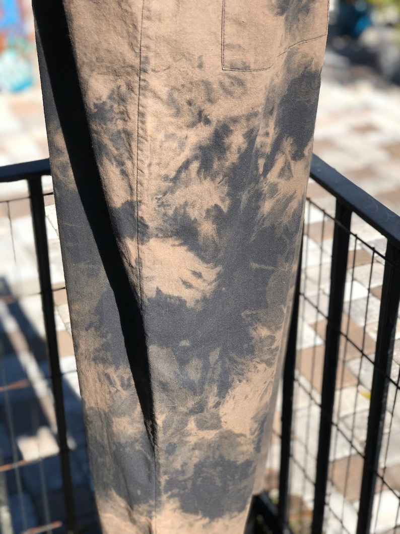 VINTAGE OVERALLSblack and brown overallshand dyed overallscotton overallsboho overallscotton tie dye overallsfab208nycfab208boho