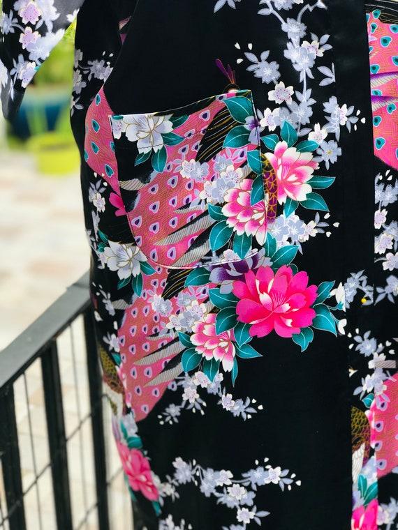 FREE US SHIPPING/satin kimono/black satin kimono/… - image 2