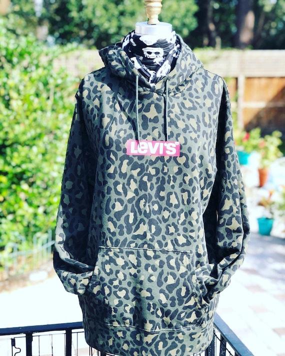 LEOPARD SWEATSHIRT/Levis sweatshirt/camouflage swe