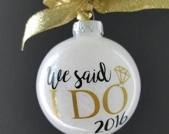 Wedding ornament (glitter)