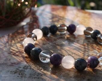 Anxiety Stacking Stretch Bracelet ~ Healing Bracelet, Yoga Jewelry, Gemstone, Intention Jewelry, Mala Bracelet
