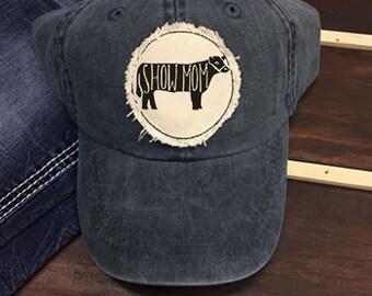 36d203e7 Show Mom Hat | Adjustable Hat | 4H Hat | 4H Mom | FFA Mom | FFA Hat |  Distressed | Farmer Gift | Farm Hat | God Made a Farmer | Farm Wife