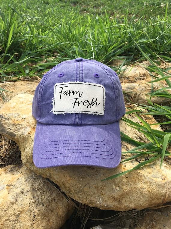 94b74d452fb Farm Fresh Farmwife Farmgirl Hat Distressed Hats Monogram