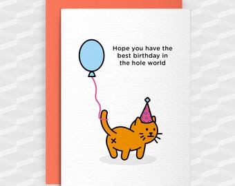 Rude Cat Card Etsy