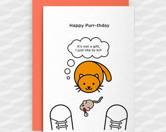 Birthday Card Cat