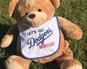 Dodgers Baby/Toddler Bib - Personalized