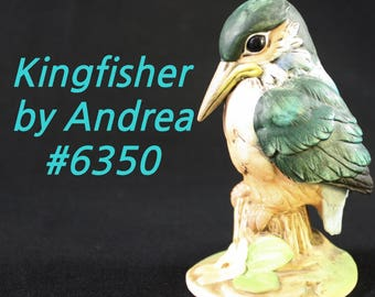 Andrea's KINGFISHER  ceramic bird numbered 6320