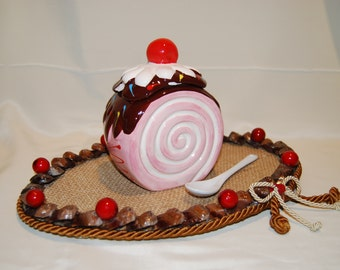 Tray with Sugar Bowl