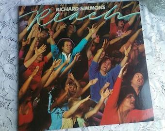 1982 Vintage Richard Simmons / Reach / Good Condition / Vinyl Record / Album / workout