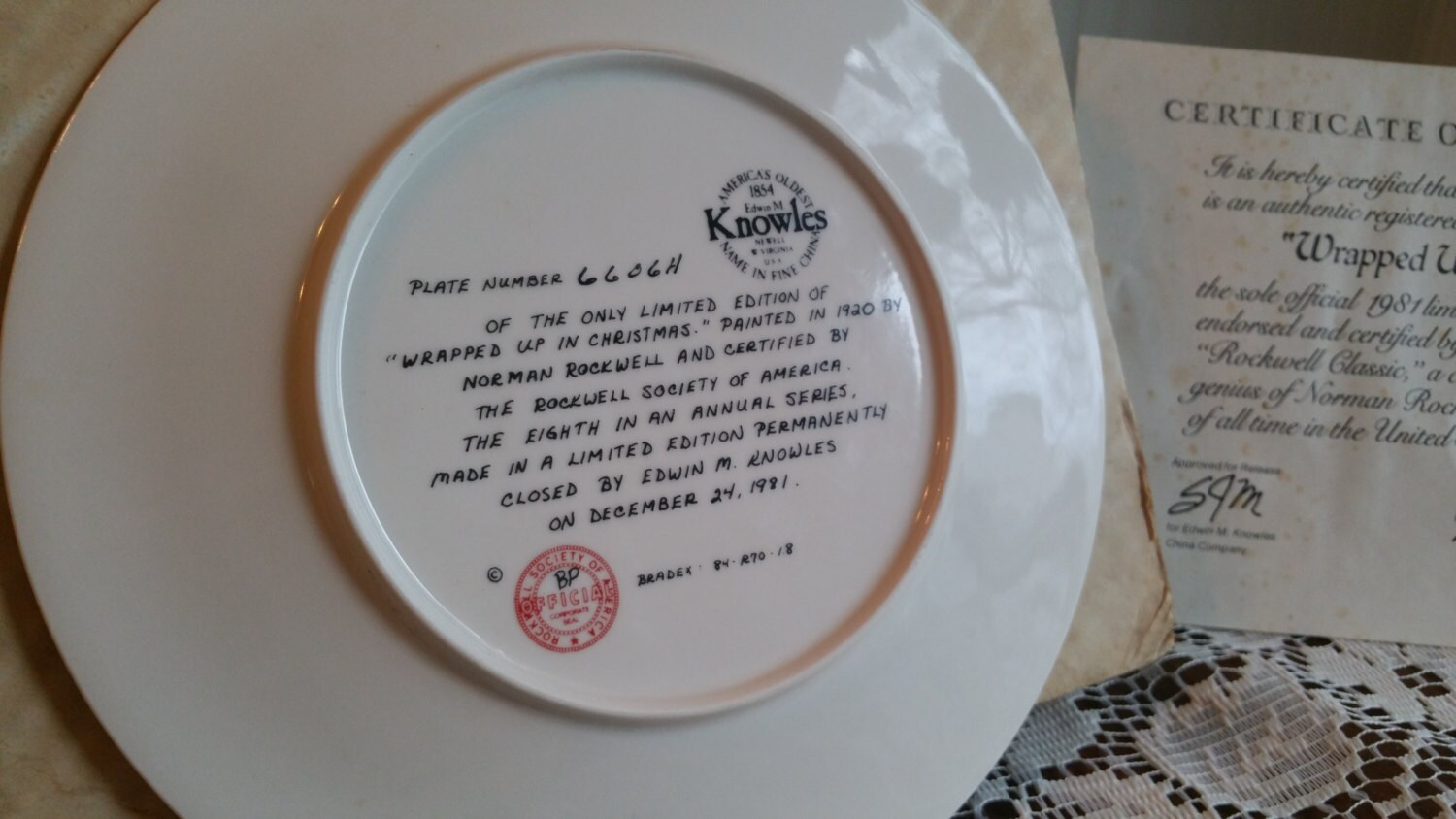 Free US Shipping / Vintage 1984 Norman Rockwell Decorative Plate ...